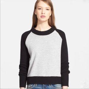 Rag & Bone wool back zip up sweater size small